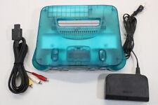NINTENDO 64 Ocean Blue Clear White Console AC AV N64 OEM PLAY US & JAPAN J725