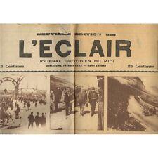 L'ÉCLAIR BÉZIERS CARMEN de Bizet et  Corrida de José ALCARANTA - HITLER 14-8-193