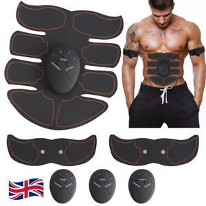 Electric Muscle Toner EMS Abdomen Trainer Patch Pad Bodybuliding Ab Exerciser UK