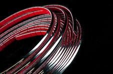 5 Metros coche de cromo de estilo Fundicion Tiras Trim Adhesivo 12mm Ancho X 3 Mm De Profundidad