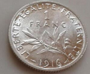 1  franc Semeuse argent 1916   superbe  (B13 33)