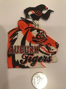 "Auburn Tigers Vintage Embroidered Iron On Patch NOS 4"" X 3"""