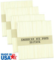 200 Sticks - USA Made by AMERICAN ICE POPS - Freezing Frozen Cream Treat Wooden