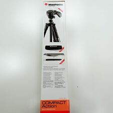 "New 60"" Manfrotto Tripod Joystick 3-Way Pan Head Compact Action MKCOMPACTACN-BK"