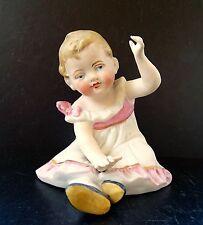 Antike seltene schöne Bisquitporzellan Figur Hübsche Kind um 1920 Sammlerstück