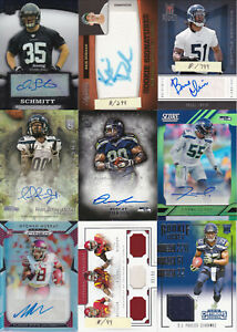 Seattle Seahawks lot of 9 Autograph, Jersey, Relic cards
