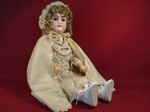 "VINTAGE ANTIQUE GERMAN HAMBERGER VIOLA 24"" BISQUE DOLL COMPOSITION BODY"