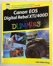 Canon EOS Digital Rebel XTi/400D For Dummies 2008 Softback Julie King Preowned