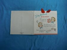 vintage Hallmark card, To My Husband on His Birthday, 1943 copyright