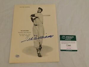 Ted Williams Signed / Autographed 8x10 Magazine Page SGC COA Red Sox HOF