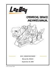 New Leeboy 8515b Conveyor Paver Operation Operators Service Parts Manual