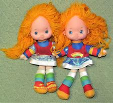 """1983 Rainbow Brite Hallmark Dolls Vintage 10"""" and 11"""" Different Mattel Sneakers"""