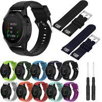 Neu Silikon Uhrenarmband Wrist Strap für Garmin Fenix 5X/3/HR/Sapphire GPS Uhr