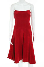 Nicole Miller Red Strapless A Line Cocktail Dress Size 8