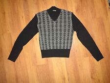 CACHAREL KNITTED WOOL BLEND GEOMETRIC PRINT RIBBED JUMPER-S,8-UK