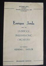 Vintage Concert Programme: Liverpool Philharmonic Orchestra, Hanley, 1947