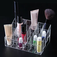 24 Makeup Cosmetic Clear Lipstick Storage Display Stand Rack Holder Organizer SU