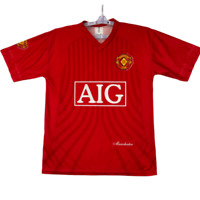 Manchester Mens Red Short Sleeve V Neck Wayne Rooney Football Jersey Size Large