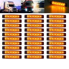 30Pcs Amber 6 LED Side Marker Lights Lamp 12V DC Lorries Truck Trailer Clearance