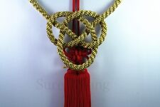 2Pcs Car Rearview Mirror Vip Charms Vip Gift Golden Kin Rope & Red Chinese Knot