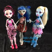 Dot Dead Gorgeous Monster High 3 Doll Pack Set  Abbey Draculaura Ghoulia