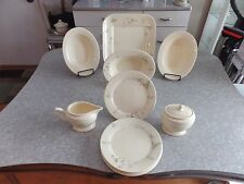 "RARE (11)PC. DINNER SERVING SET in the ""CLAIR & CLAIR FLORAL"" by THOMAS O'BRIEN"