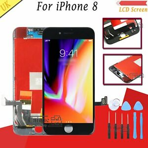 Screen For Apple iPhone 8 LCD Display Touch Digitizer Assembly + Frame Black UK