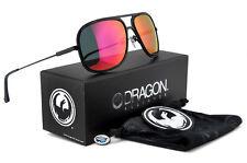 New Dragon B-CLASS Aviator Sunglasses | Matte Black with Plasma Ion Mirror Lens