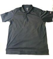 Adidas Golf  Mens Polo Shirt XL Black Climalite Short Sleeve