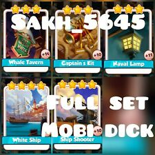 Full Set Mobi Dick ( Fast Delivery ):- Coin Master Cards