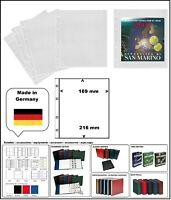 5 LOOK 304653-5 MÜNZHÜLLEN NUMOH 1C NH1C 169 x 216 mm Für Münzfolder Blister