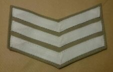 Royal Marines White on Stone Sergeant Chevrons SCC RM RMR RN