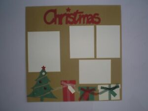 Christmas 1 #403 premade scrapbook pages