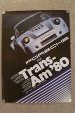 1980 Porsche 911 SC Coupe Trans-Am Victory Showroom Advertising Poster RARE!!