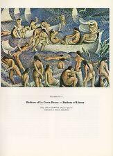 "1976 Vintage SALVADOR DALI ""BATHERS LA COSTA BRAVA, LLANER"" Color Art Lithograph"