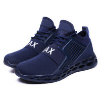 Mens Running Trainers Fitness Gym Sports Comfy Shoes Sneakers Black Size UK NEW