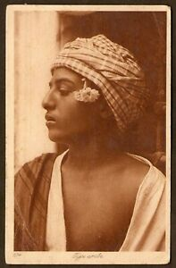 Vintage Male -  189 Arab Boy w Flower by Sebah and Joaillier -