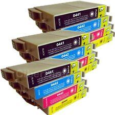 12 ciberdirect T0441 T0442 T0443 T0444 cartucce d'inchiostro per adattare le stampanti Epson