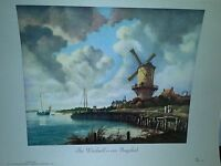 The Windmill Jacob van Ruysdael Instructor Picture Series 11 Vintage Art Print