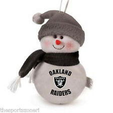 "Oakland Raiders 6"" Plush Snowman Ornament"