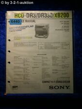 Sony Service Manual HCD DR3 DR330 XB200 Compact System (#6440)