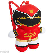 "Nickelodeon Red Jayden Power Rangers 14 "" Plush Figure Backpack Tote- NEW!"