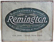 Vintage Replica Tin Metal Sign Remington Double Barrel shotgun gun Muzzle 1413