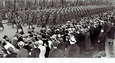 1938 Vintage Photo American Soldiers march on 5th Ave in NYC at Army Day Parade