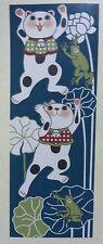 Maneki Neko Tenugui Tapestry Cotton 100% Printed Made in Japan  AMAGAERU