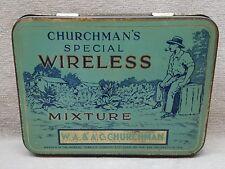 Vintage Churchman's Wireless Tobacco Tin.