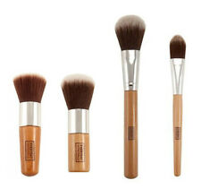 4 pcs Bamboo flat top kabuki, Foundation, Powder, Blush Makeup Brush brushes set
