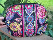 VERA BRADLEY Large Cosmetic Bag Makeup Travel College Symphony in Hue FREE SHIP