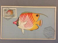 Unusual Mozambique Postal History : Maximum card Stamp 1952 : Coral Fish $10 #04
