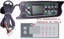 LA Spas Topside control keypad PL-49775 Gecko TSC-72 / K-72 10-buttons +10'cable
